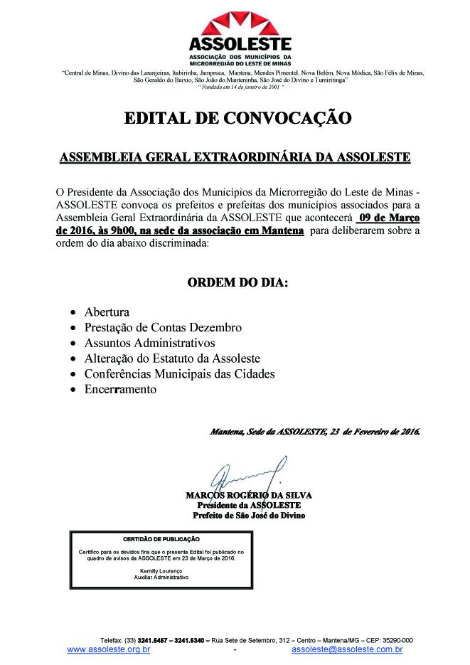 EDITAL 001 ASSEMB GERAL EXTRAORDINÁRIA ASSOLESTE 09-03cópia